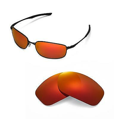 758cb7ce6a New Walleva Polarized Fire Red Replacement Lenses For Oakley Taper  Sunglasses
