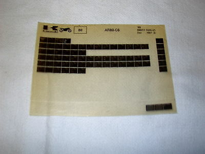 Kawasaki Ar80 Ar 80 C6 Gen Part Catalogue Microfiche