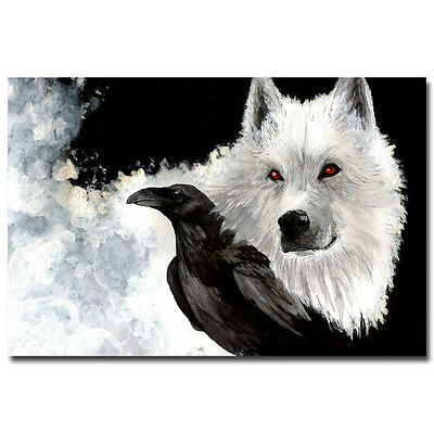 Game Of Thrones TV Shows Season 6 Silk Poster 12x18 24x36 inches Crow Ghost 039