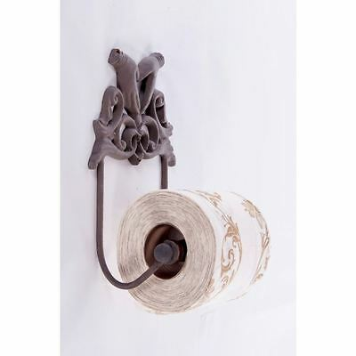 Rustic Brown Two Hands Toilet Roll Holder