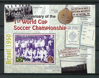 s8425) GAMBIA 2005 MNH** 75th Ann. of the 1st WC Football S/S