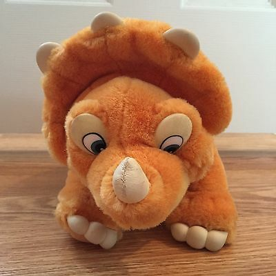 LAND BEFORE TIME Cera Triceratops Plush Stuffed Animal Toy JCPenney 1988 EUC