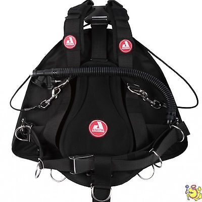 UK BCD AUDAXPRO side mount potnt break cave black 8 l