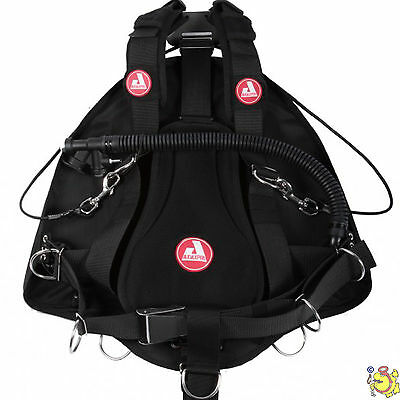 UK BCD AUDAXPRO side mount potnt break cave black 12 l
