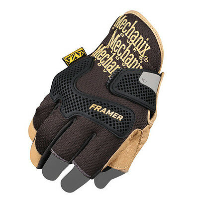 Hard-Wearing Mechanix Construction-Grade Framer Gloves - Black/tan