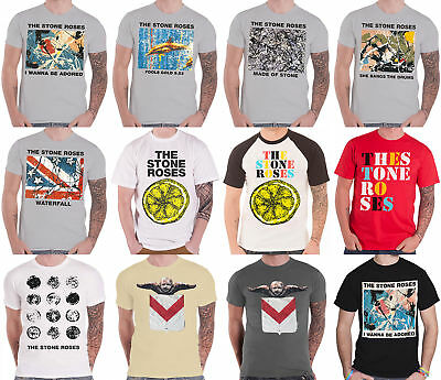 The Stone Roses T Shirt mens Official Adored fools gold all for one band logo