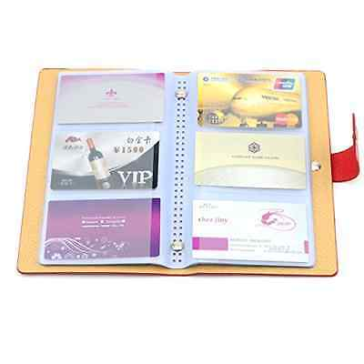 BLUBOON Business Card Book Name Card Holder for 240 Cards PU Leather Red .
