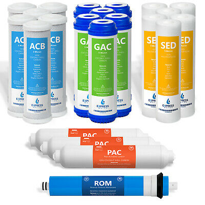 22 Pcs-Water Filters Sediment Carbon Reverse Osmosis Drinking 3 Year Supply