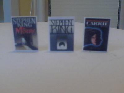 Dollhouse Miniature Books Stephen King Carrie Misery The Shining