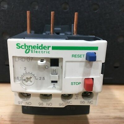 SCHNEIDER ELECTRIC - LRD07 THERMAL OVERLOAD RELAY - 1.6-2.5A - TeSys-034677