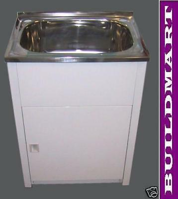 New Stainless Steel Laundry Sink Tub Cabinet 600mm x 500mm