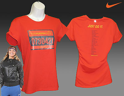 NIKE JUST DO IT Femmes Human Jogging Course Chemise
