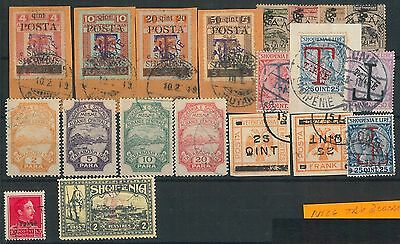 56061 -  ALBANIA -  POSTAL HISTORY: LOT of used TAX & LOCAL STAMPS - VERY NICE!!