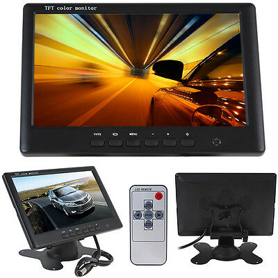 "HD 7"" Inch TFT LCD Screen Monitor Display For Car Rear View Reverse Camera UK"