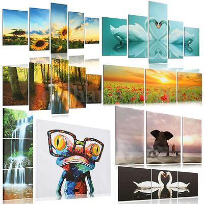 1/3/5 Panel HD Unframed Canvas Print Wall Art Painting Picture Home Decoration