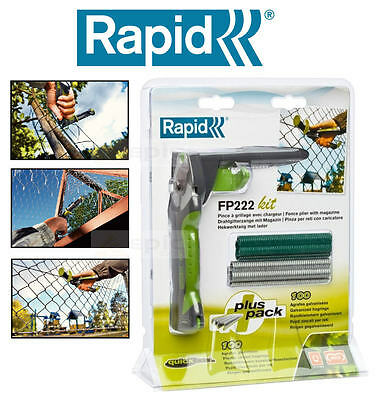 NEW RAPID Wire/Chain Fencing/Fence Pliers + 200 VR22 Steel Hog Rings Kit FP222