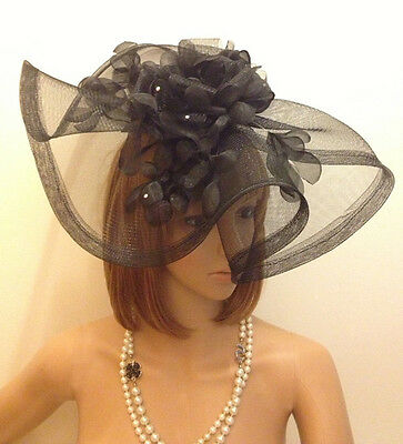 2016 Black Formal Party Tiaras Prom Pageant Hats Celebrity Cocktail Headdress