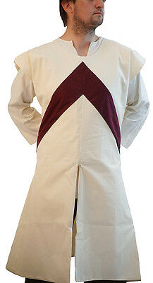 Medieval-LARP-SCA-Lords-Re-enactment DOUBLE LAYER CHEVRON SURCOAT All Sizes