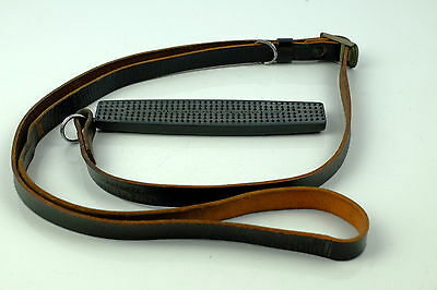 Genuine Leica Vintage Black Leather Strap 14092 + Pad   For Cameras.  B