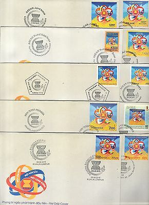 2015 JOINT ISSUE asean FDC 10 series