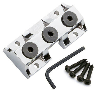 NEW Kahler® Style Locking Clamp for guitar, Behind the Nut, with Screws - CHROME