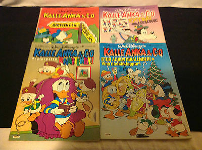 Walt Disney LOT of 4 Comics! 1979-1986 ALL FROM FINLAND!! 1 is Christmas Edition