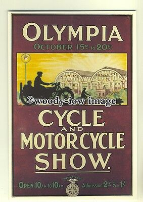 ad0041 - Cycle Motorcycle Show , Olympia - modern advert postcard
