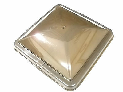Replacement Smoked Roof Vent Cover RV Trailer Camper 14x14 Cargo Plastic Lid