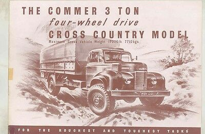 1953 ? Commer 3 Ton 4x4 Cross Country Military Truck Brochure wv9110
