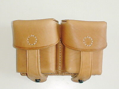 CZECH ARMY VZ24 Vz24 leather pre WW2 WWII repro leather amunition pouches marked