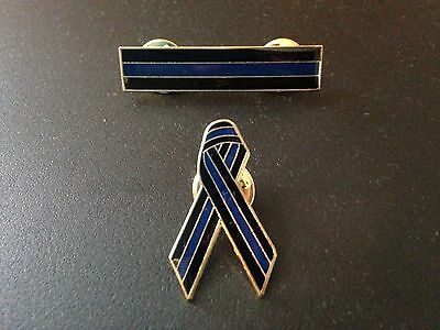 Police Officer Thin Blue Line Cop Awareness Citation Mourning Badge TBL Pins