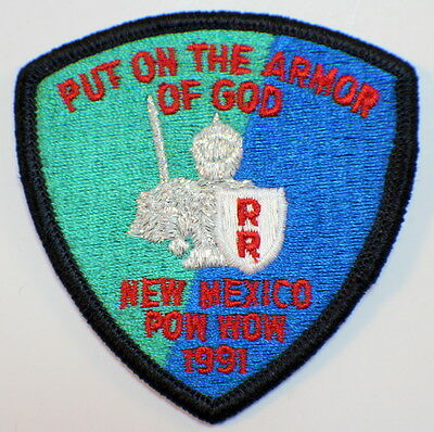 Put on the Armor of God New Mexico Pow Wow 1991 Royal Ranger Uniform Patch