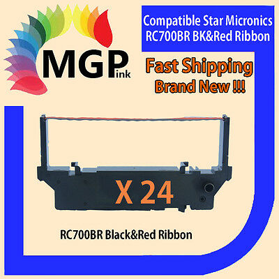 24x RC-700BR RC700 Black & Red Ink Ribbon for MP200 MP212 MP216 MP221 MP231