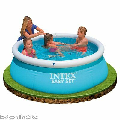 Piscina Intex- 183x51cm  Piscina montable en 10 minutos, Hinchable de plástico