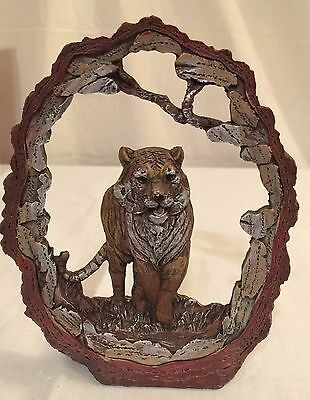 "New 7"" Orange Tiger Statue Decoration Wildlife Collectible Safari Frame"