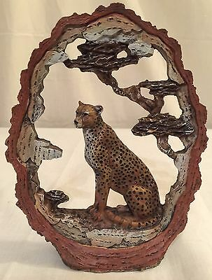 "New 7"" Leopard Jaguar Statue Decoration Wildlife Collectible Safari Frame"