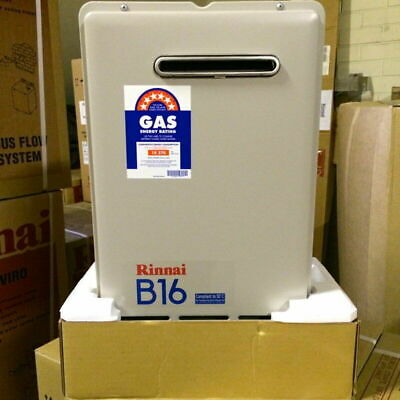 Rinnai B16 Builders Series Continuous Flow Home Hot Water System - 50°C - LPG