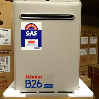 Rinnai B26 Builders Series Continuous Flow Home Hot Water System - 50°C - LPG