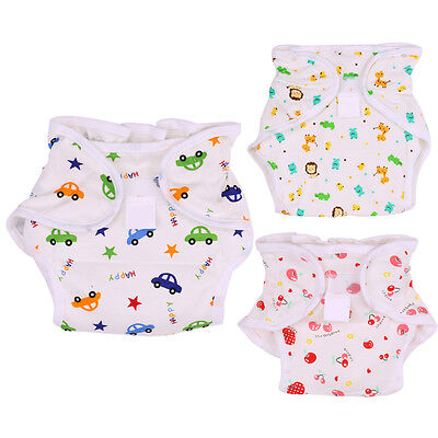 0-3T Newborn Baby Diapers Reusable Covers/ Inserts Nappy Cover Baby Cloth Diaper