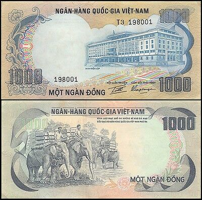 South Vietnam $1,000 (1000) Dollars, 1972, P-34, UNC