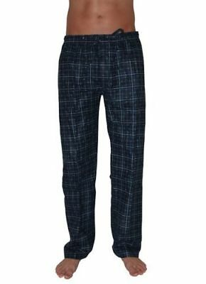 Pyjamas Mens Long Flannel Pjs Pants Navy Cheques (sz S-XXL) Sz S M L XL XXL