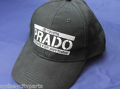 Toyota Prado Cap Baseball Style Embroidered Black Adjustable
