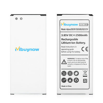 2500mAh Replacement Battery for Samsung Galaxy Alpha G850F/G8508S/G8509V