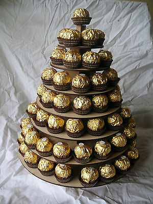 Circular ferrero Rocher pyramid / stand wedding table centre piece  sweet stand,