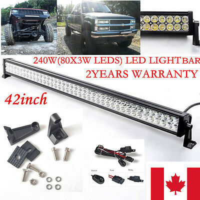 42inch 240W LED Work Light  Bar Flood Spot Combo Jeep Offroad Truck 4WD SUV 40""