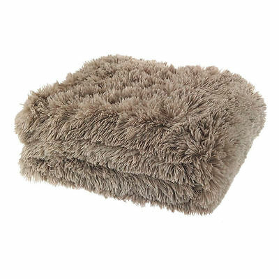 Catherine Lansfield Cuddly Shaggy Soft Faux Fur Warm Throw 6 Colours Available