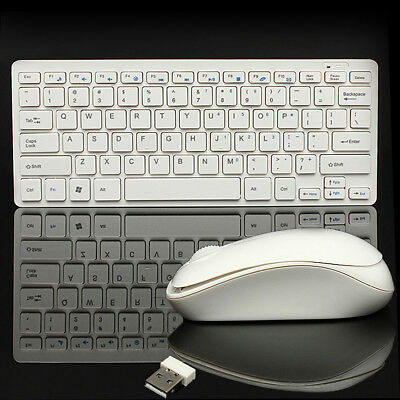 Mini 2.4GHz Optical Desktop Wireless Keyboard and Mouse USB Receiver Kit For PC