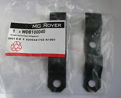 MG Rover F TF MGF MGTF Pair Silencer Heat Shield Support Brackets WDB100040 x 2