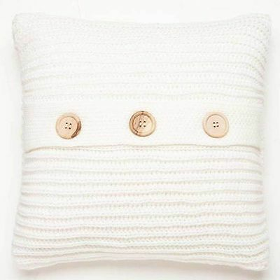 Catherine Lansfield Chunky Knit Cushion Cover 43cm x 43cm , 6 Colours Available