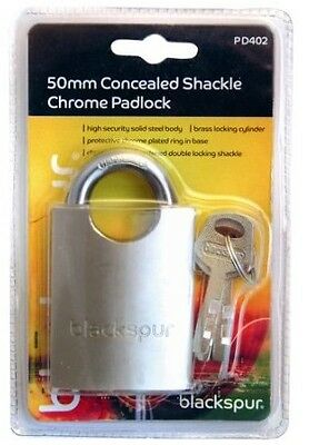 50mm Pad Lock With a Concealed Shackle [PD402] inc. 3 x Padlock Keys